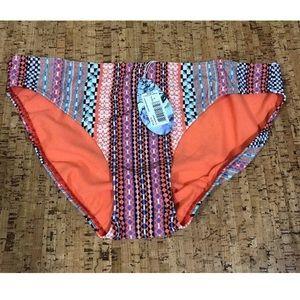 prAna Coral Carnivale Swim Bottom, Large